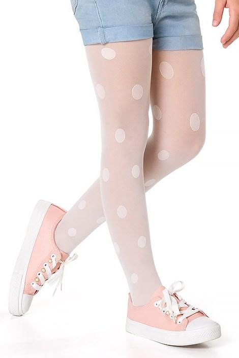 MONA Dívčí punčochové kalhoty Delcy bílá 152/158