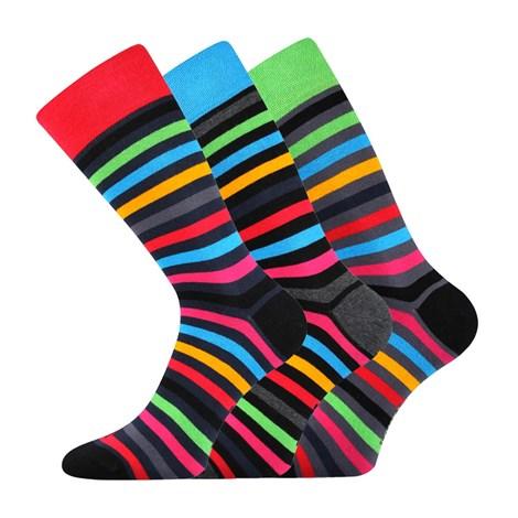 Lonka 3pack módních ponožek Deline barevná 43-46