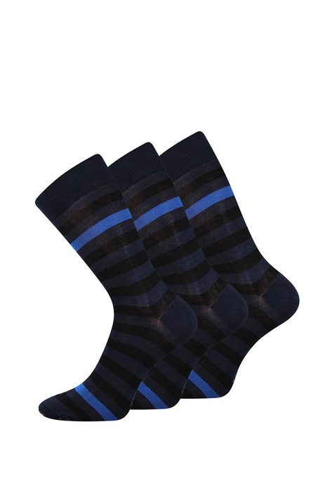 Lonka 3 pack společenských ponožek Demertz modrá 39-42