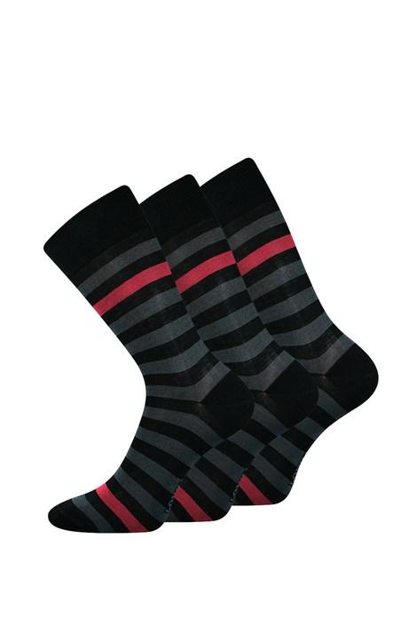 Lonka 3 pack společenských ponožek Demertz černá 39-42