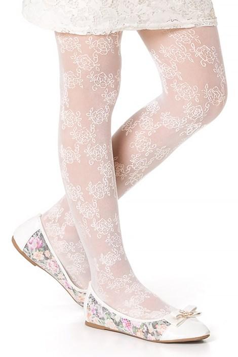 MONA Dívčí punčochové kalhoty Didi bílá 152/158