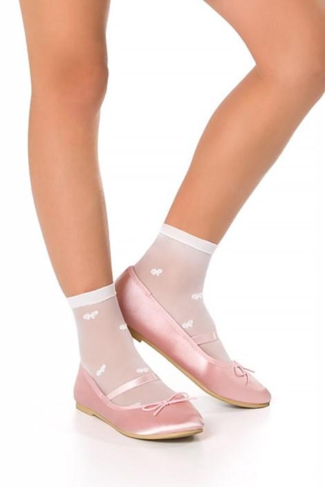 MONA Dívčí ponožky Dimka bílá uni