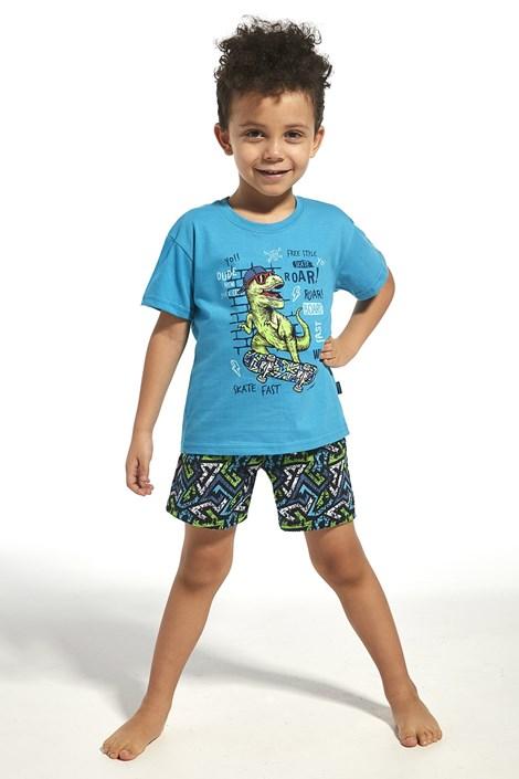Cornette Chlapecké pyžamo Dinosaur tyrkysová 98/104