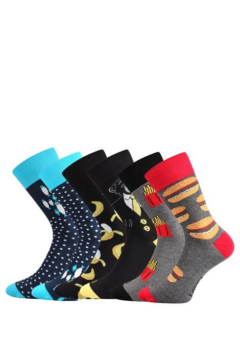 Lonka 3 pack ponožek Doble MixD každá ponožka jiná barevná 43-46