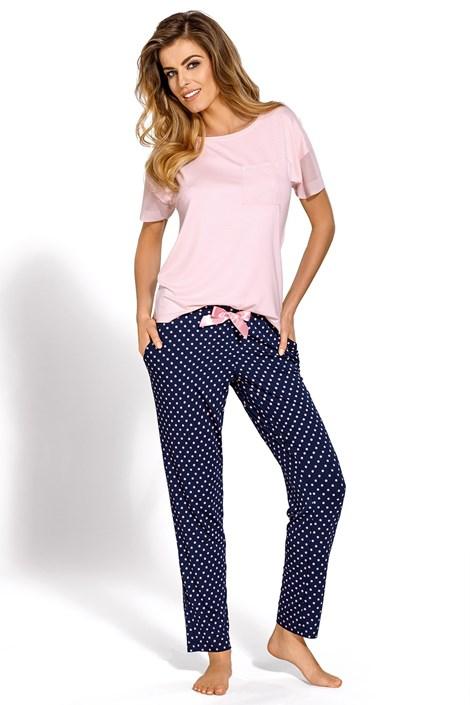 Nipplex Dámské elegantní pyžamo Domenica modrorůžová XXL