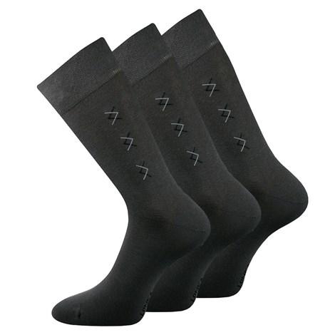 Lonka 3 pack společenských ponožek Doratek tmavěšedá 39-42