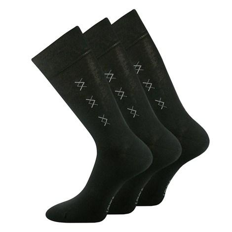 Lonka 3 pack společenských ponožek Doratek černá 43-46