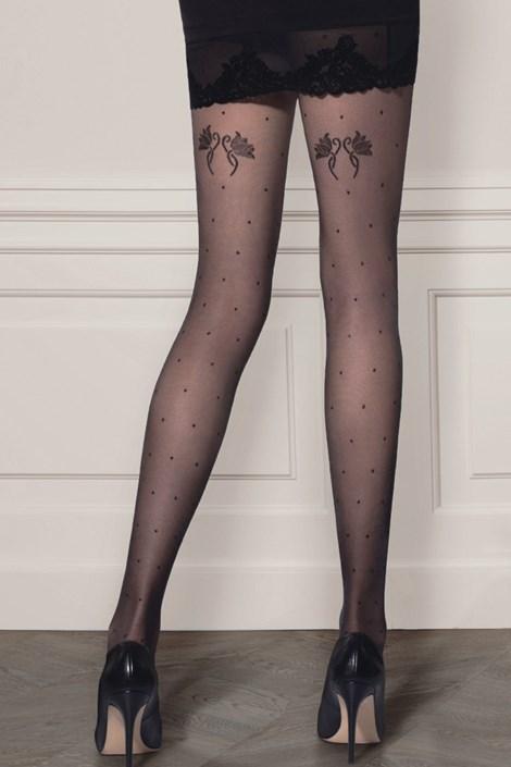 Gatta Vzorované punčochové kalhoty Dotsy11 20 DEN černá S