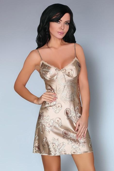 Livco Corsetti Luxusní košilka Dragana Camel zlatá XL