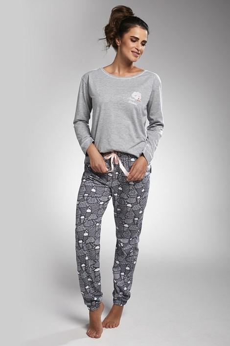 Cornette Dámské pyžamo Dreaming šedá L