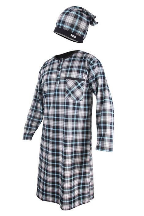 Cornette Pánská noční košile s čepičkou CORNETTE Dark Blue barevná XXL