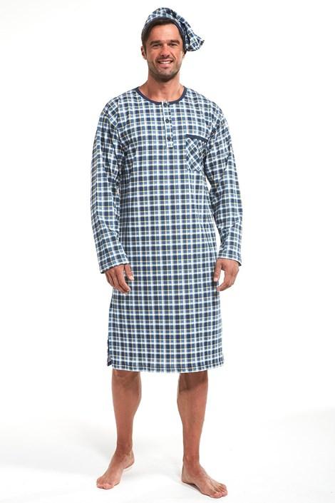 Cornette Pánská košile Russ modrá XXL
