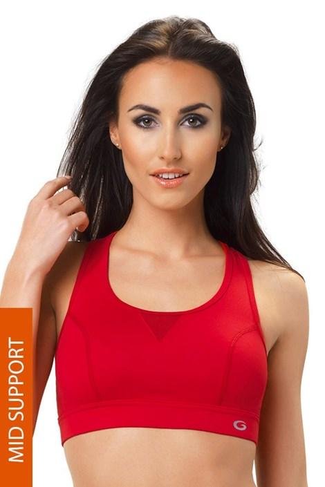 MrsFitness Sportovní podprsenka Dry Sport  Bra červená červená XL