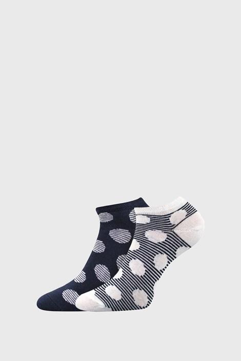 BOMA 2 PACK dámských ponožek Duo modrá 39-42