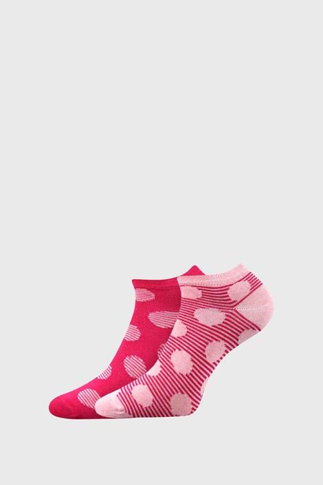 BOMA 2 PACK dámských ponožek Duo růžová 35-38