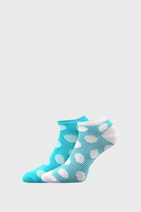 BOMA 2 PACK dámských ponožek Duo tyrkysova 35-38