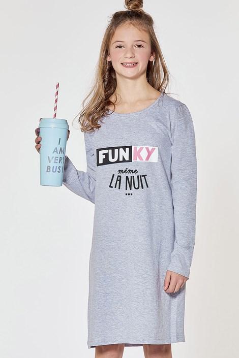CTM Style Dívčí noční košilka Funky šedá 16