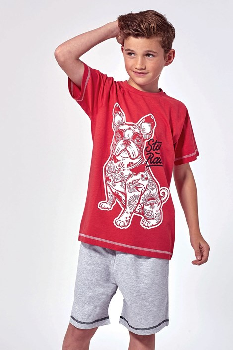 Lenny Sky Chlapecké pyžamo Hipster šedočervená 12