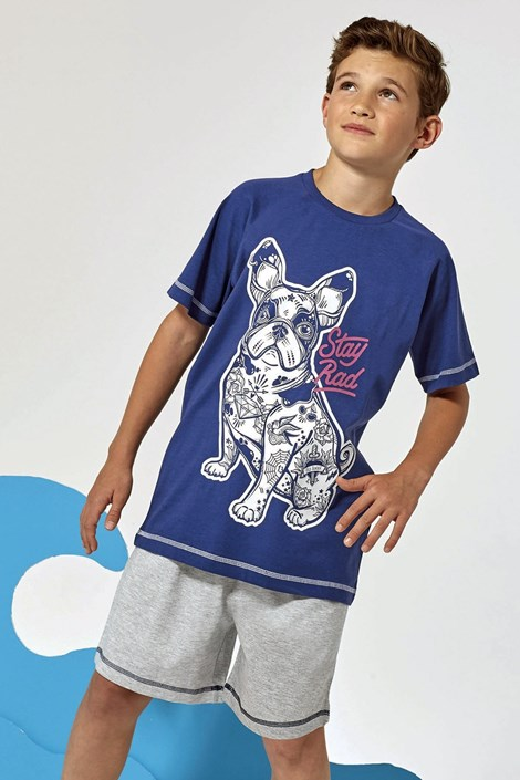 Lenny Sky Chlapecké pyžamo Hipster šedomodrá 12