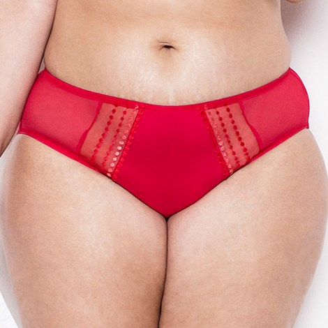 Elomi Klasické kalhotky Matilda červená XL