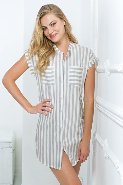 Coveri Dámské volnočasové šaty šedé bílošedá XL