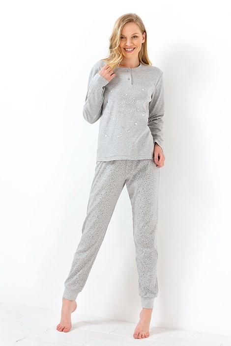 Coloriamoci Dámské pyžamoSweet dreams šedé šedá XL