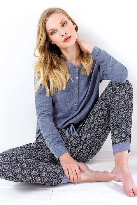 Coloriamoci Dámské pyžamo Charlotte modré modrá XL