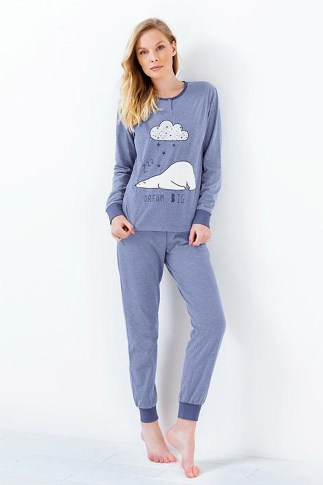 Coloriamoci Dámské pyžamo Susianne modré modrá XL