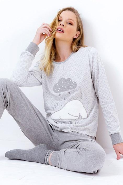 Coloriamoci Dámské pyžamo Susianne šedé šedá XL