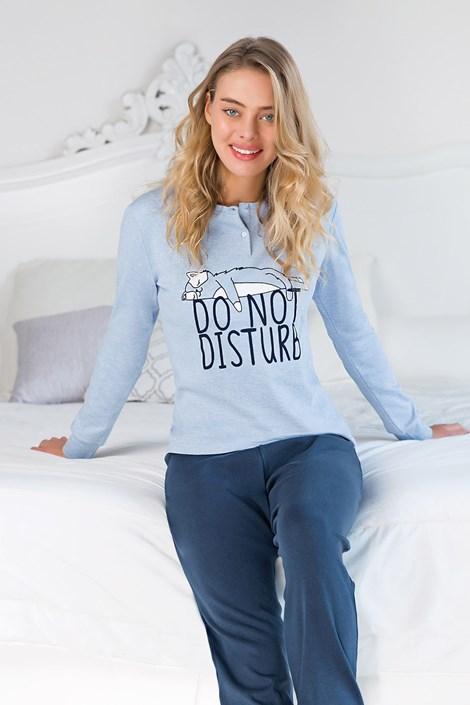 Coveri Dámské pyžamo Do not disturb modrá XL