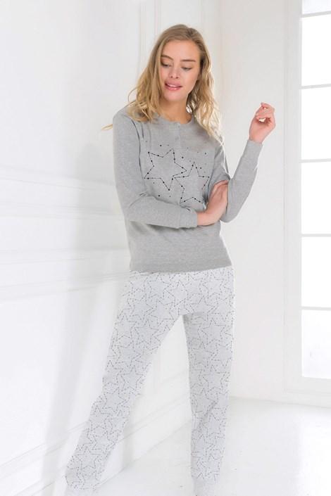 Coveri Dámské pyžamo In stars šedá XL