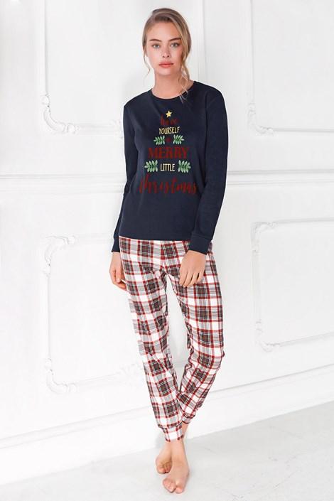 Coveri Dámské pyžamo Merry Christmas modrá L