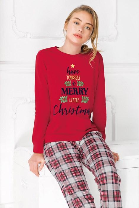 Coveri Dámské pyžamo Merry Christmas červená L