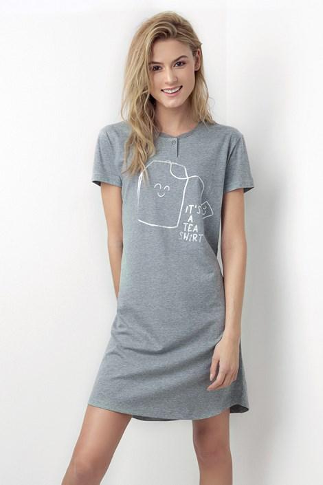 Donna Dámská noční košile Tea Shirt šedá XL