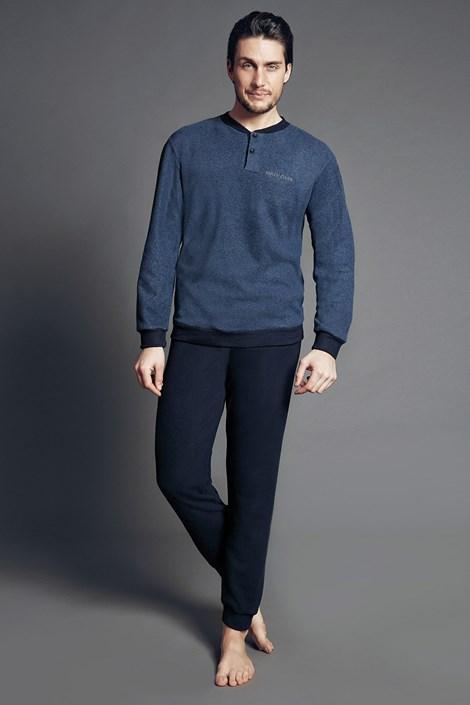 Enrico Coveri Pánský domácí komplet Dominico Blue modrá XL