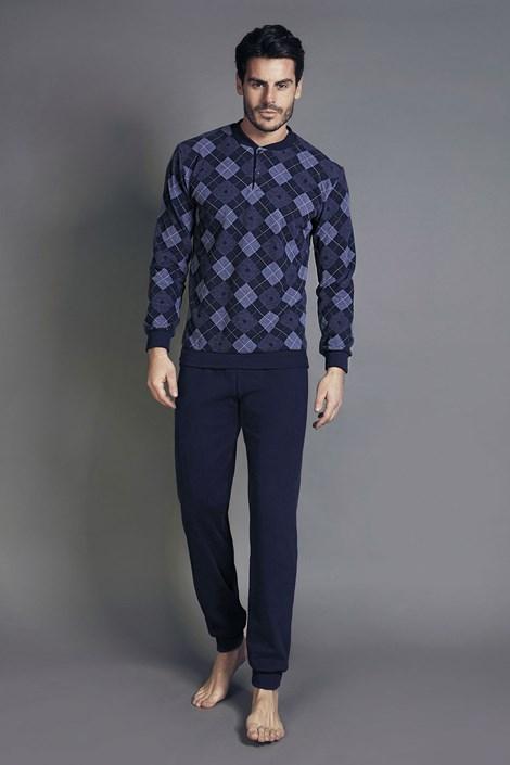 Enrico Coveri Pánské pyžamo ENRICO COVERI 5043 modrá S