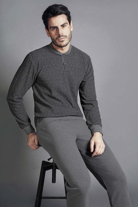 Enrico Coveri Pánské pyžamo ENRICO COVERI 5045GM šedá XXL