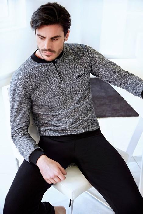 Enrico Coveri Pánské italské pyžamo Maxim černá M