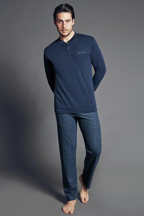 Enrico Coveri Pánské italské pyžamo Max modrá XXL
