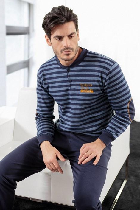 Enrico Coveri Pánské pyžamo ENRICO COVERI Athletic Blue modrá S