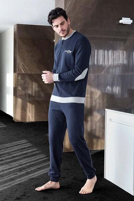 Enrico Coveri Pánské pyžamo ENRICO COVERI Sport modrá XXL