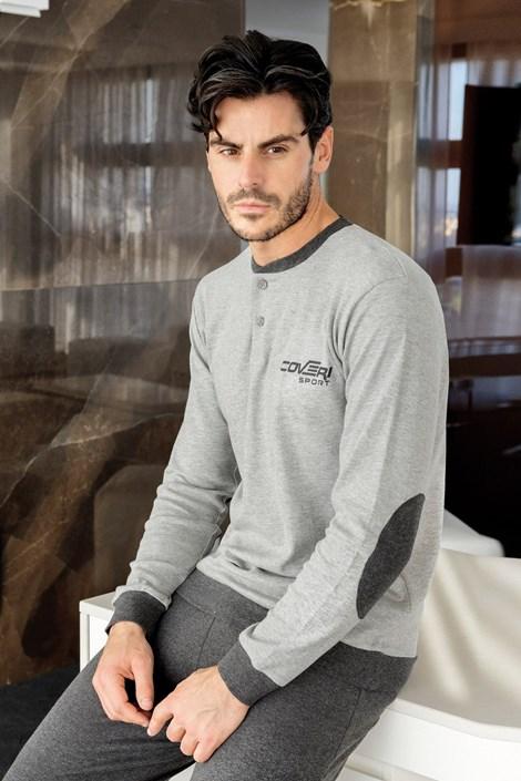 Enrico Coveri Pánské pyžamo ENRICO COVERI Grey šedá M