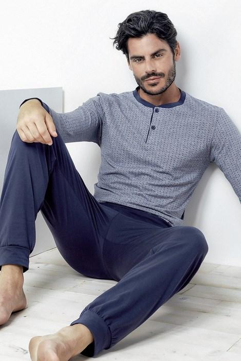 Enrico Coveri Pánské pyžamo Enrico modrá XXL