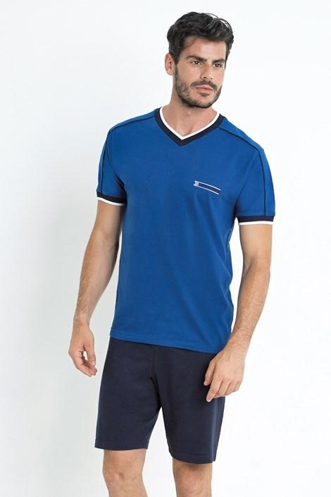 Enrico Coveri Modré pyžamo Gregor modrá XXL
