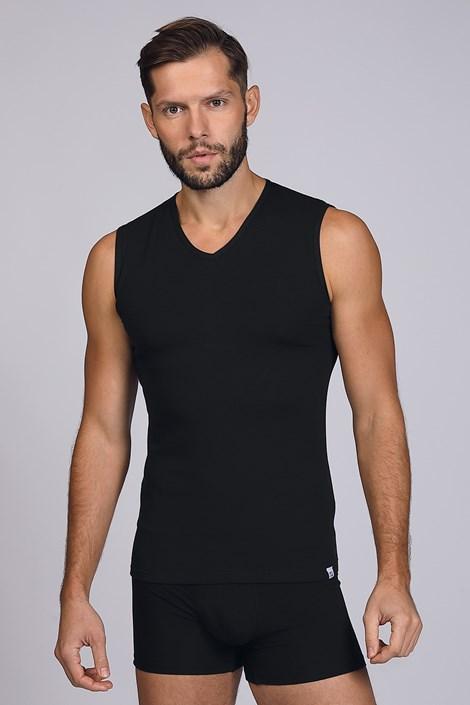 Černé tričko bez rukávů
