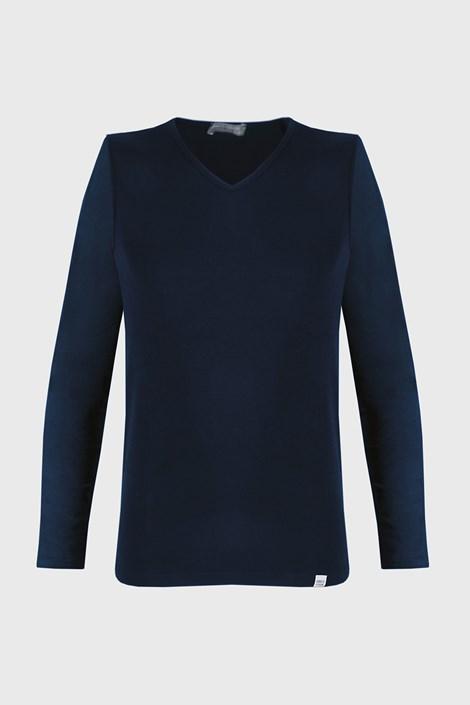 Enrico Coveri Tmavěmodré tričko s dlouhým rukávem modrá XXL
