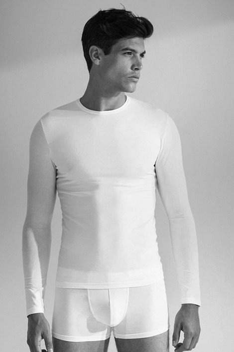 Enrico Coveri Pánské tričko s dlouhým rukávem 1014 bílá XXL