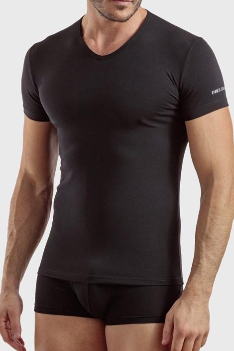 Čierne bavlnené tričko Max PLUS SIZE