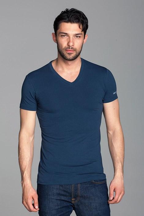 Enrico Coveri Pánské tričko Enrico Coveri ET1501 modrá L
