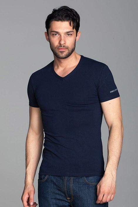 Enrico Coveri Pánské tričko Enrico Coveri ET1501 tmavěmodrá L